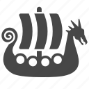 boat, knarr, longship, sailboat, seafaring, ship, viking