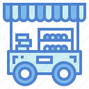 cart, fast, food, stand icon