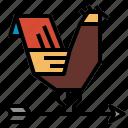 weather, weathercock icon