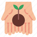 ecology, plant, planting, sprout, village icon