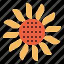 flower, sun, sunflower, village icon