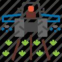 insecticide, pesticide, spray, tracktor icon