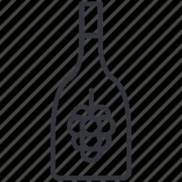 alcohol, bottle, grape, jar, viniculture, wine, yummy icon