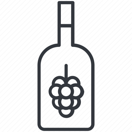 alcohol, bottle, grape, jar, viniculture, wine, yummy icon