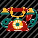 vintage, vector, retro, antique, classic, elegant, telephone