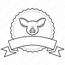 butchery logo, butchery stamp, ham, menu, pork, restaurant