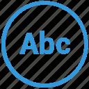 abc, enter, format, select, text, tool, write icon