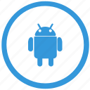 android, function, keyboard, robot, select icon