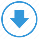 arrow, bottom, down, round, select, sign icon
