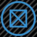box, mobile, mode, no, picture, select icon