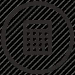 calculator, function, keyboard, math, mode icon