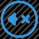 cancel, music, mute, select, sound, volume icon