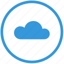 cloud, folder, mobile, round, select, storage, transfer icon