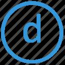 d, keyboard, letter, lowcase, select, virtual icon