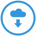 cloud, data, download, select, server icon