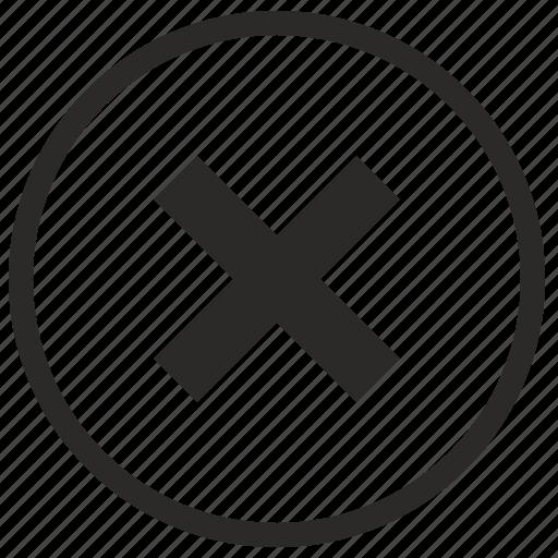 cancel, del, delete, function, stop icon