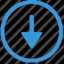 arrow, bottom, down, navigation, select icon