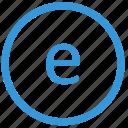 e, keyboard, letter, lowcase, select, virtual icon