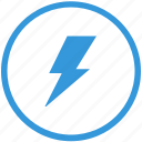 electric, error, news, notice, round, select, shock icon