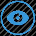 browser, eye, mobile, mode, preview, select, visible icon