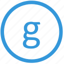 g, keyboard, letter, lowcase, select, virtual icon