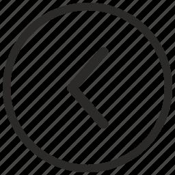 arrow, back, go, last, left, navigation icon