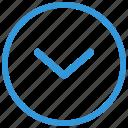arrow, bottom, go, navigation, select icon