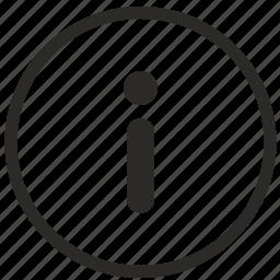 data, help, info, information, notice icon
