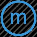 keyboard, letter, lowcase, m, select, virtual icon