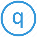 keyboard, letter, lowcase, q, select, virtual icon