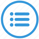 function, keyboard, list, navigation, select icon