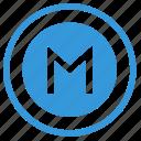 m, metro, metropolitan, pointer, round, select, sign icon