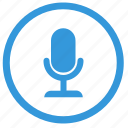 device, mic, microphone, record, select icon