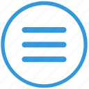 adaptive, bar, element, menu, mobile, navigation, select icon