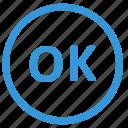 access, confirmation, enter, ok, select icon