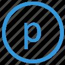 keyboard, letter, lowcase, p, select, virtual icon