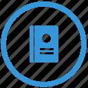 call, id, identity, passport, scan, select icon