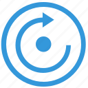 function, keyboard, navigation, rotate, select icon