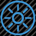 bright, function, light, menu, mobile, mode, sun icon