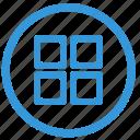 format, menu, metro, select, style, tile icon