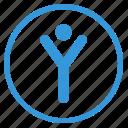 antenna, body, human, round, select, signal, y icon