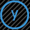 keyboard, letter, lowcase, select, virtual, y icon