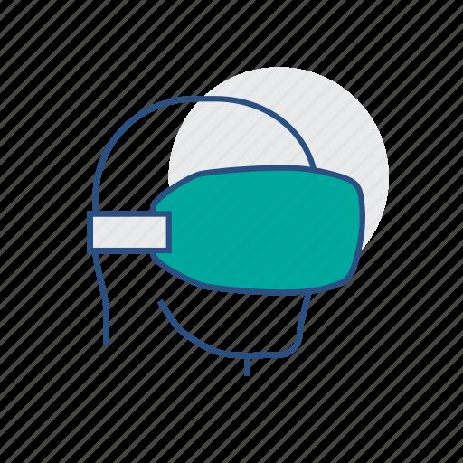 head, man, virtual reality, vr icon