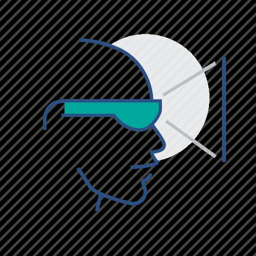 google glass, technology, virtual reality, vr icon