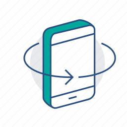 isolated, mobile, phone, virtual reality, vr icon