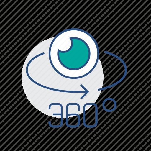 camera, eye, lense, virtual reality, vr icon
