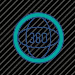 360 degree, cirlce, virtual reality, vr icon