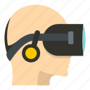 cyber, cyberspace, device, digital, electronics, entertainment, vr headset icon
