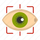 eye, eyeball, human, look, see, sight, vision icon