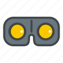 cyber, cyberspace, device, digital, electronics, entertainment, game glasses icon